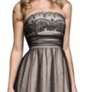 David's Bridal Lace Strapless Knee Length Dress